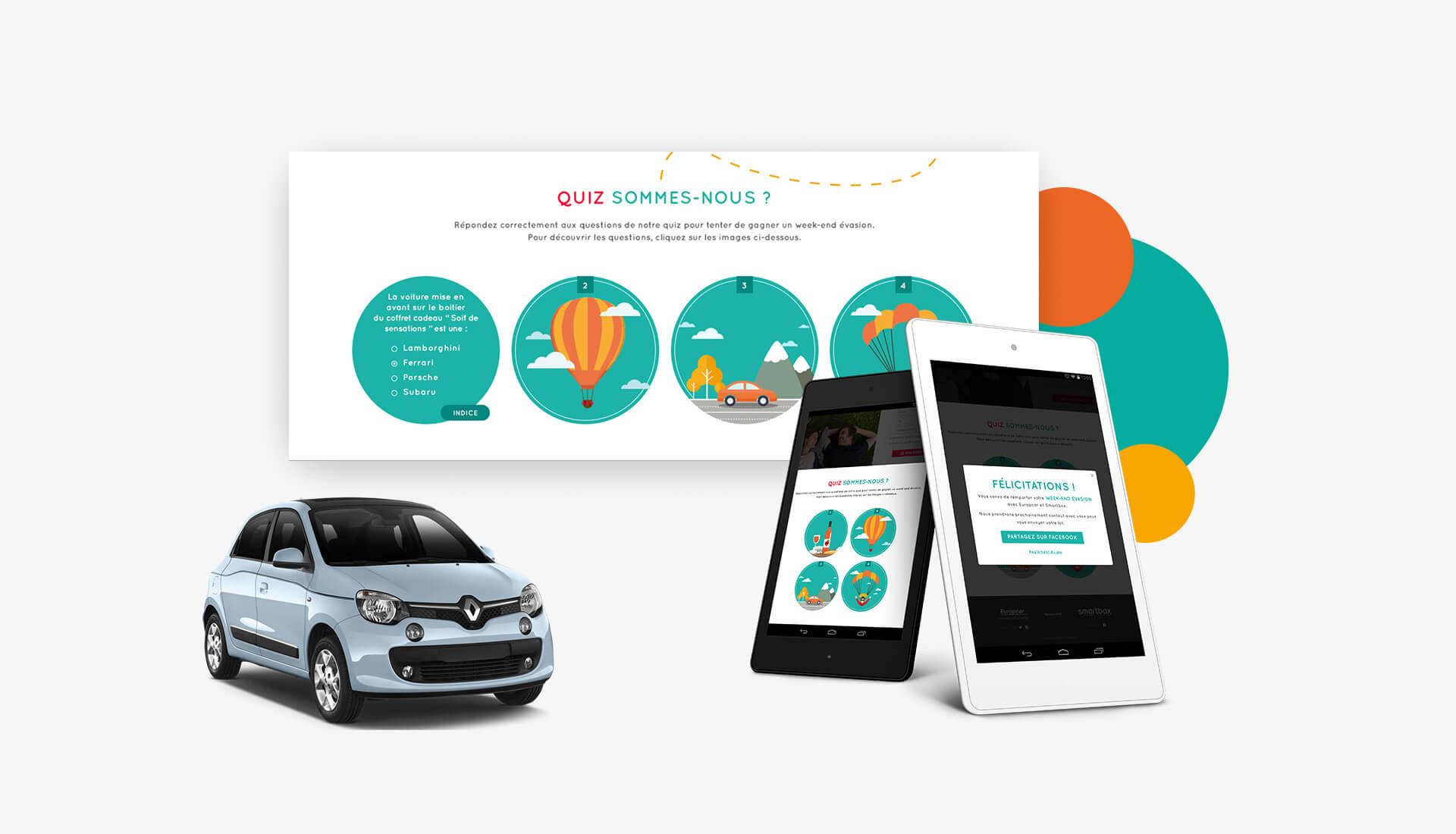 Agence Sharing - Jeu Concours sur Europcar Smartbox