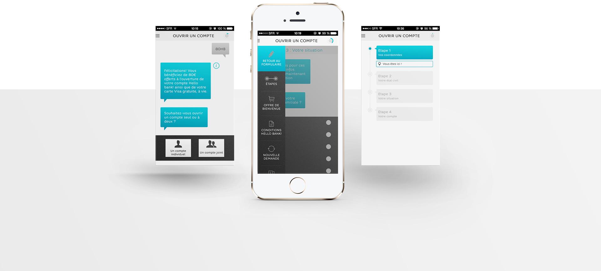 Hello bank - webdesign de Sharing Agency