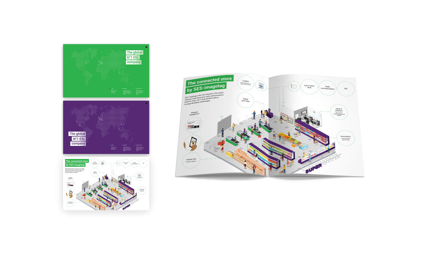 Agence de communication Sharing - brochure SES Imagotag