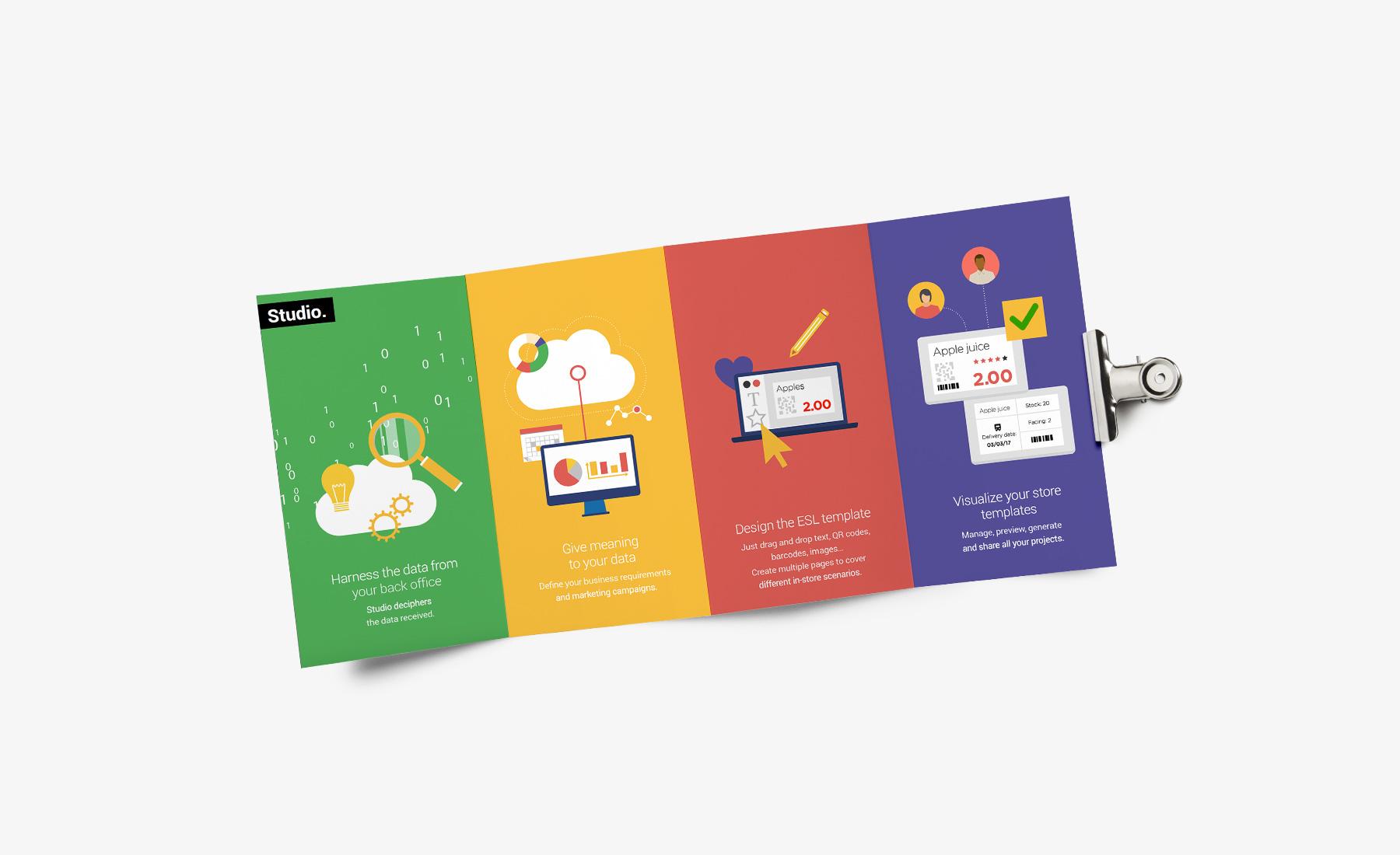 SES Imagotag - support de communication par Sharing Agency