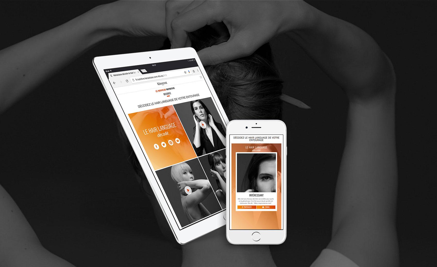 Kérastase - Social tool par Sharing Agency