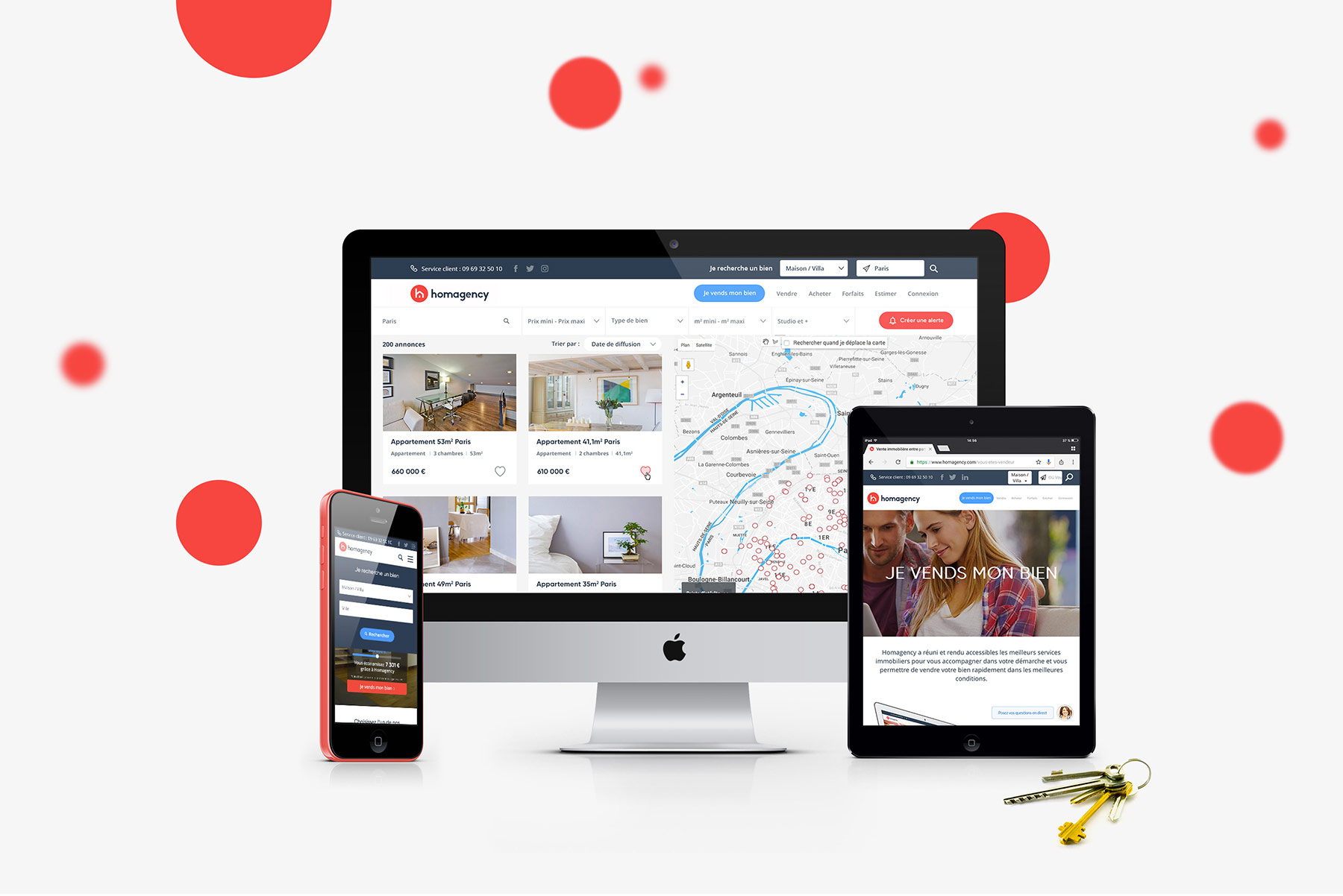 Homagency - Création site sur mesure Agence Sharing