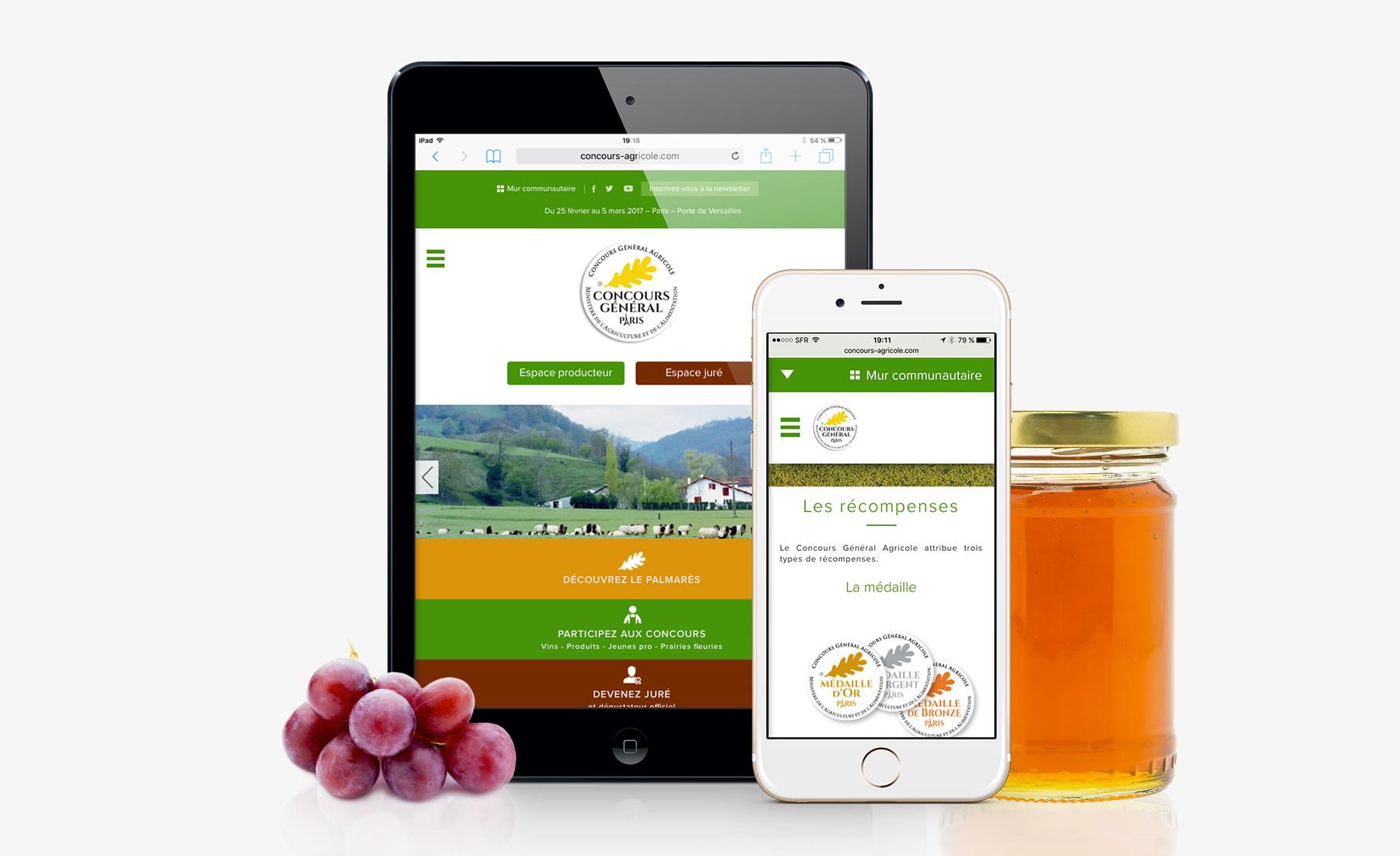 Concours général agricole - développement sur mesure par Sharing Agency
