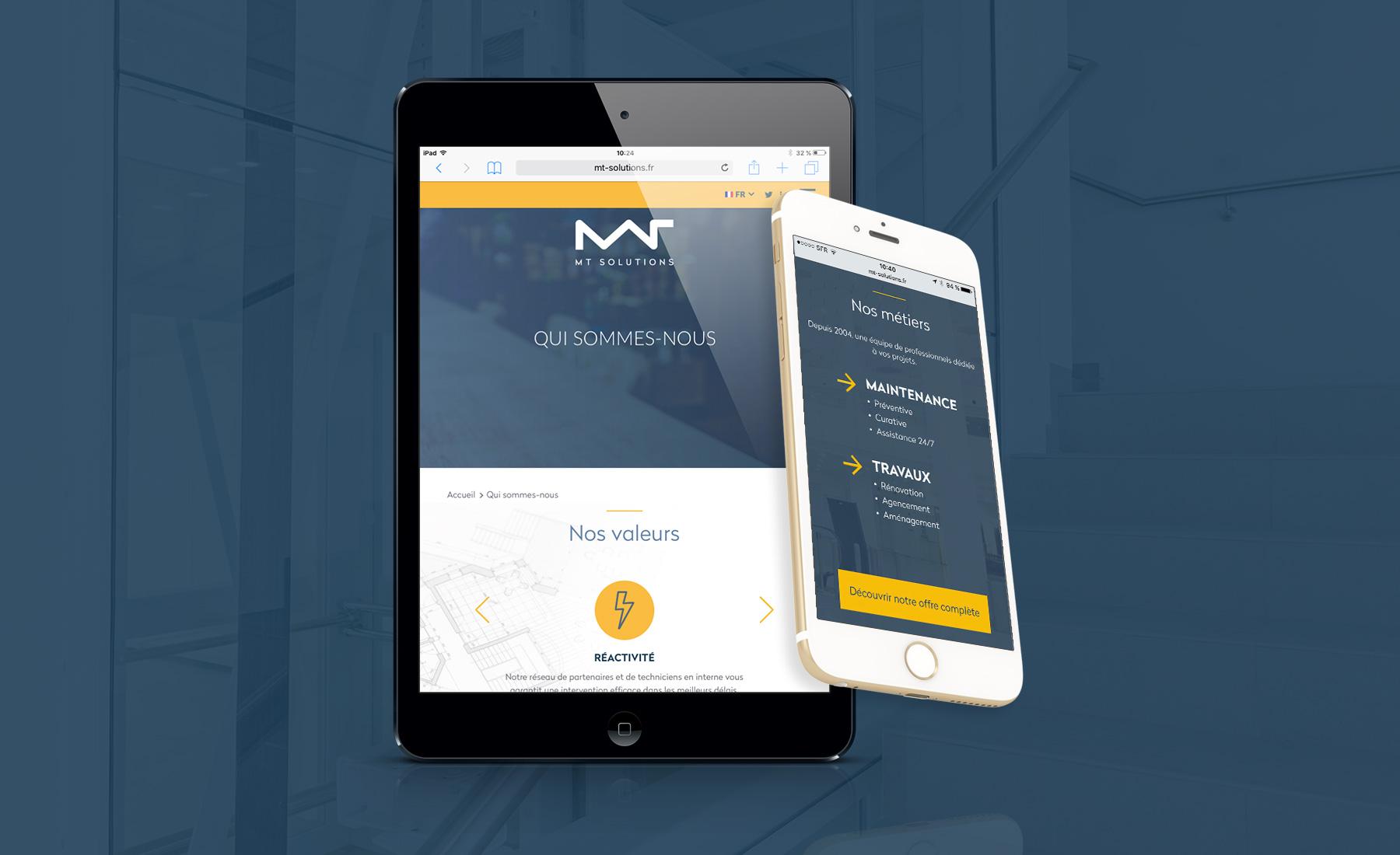 MT Solutions - Création Site web par Sharing - agence de communication à Paris