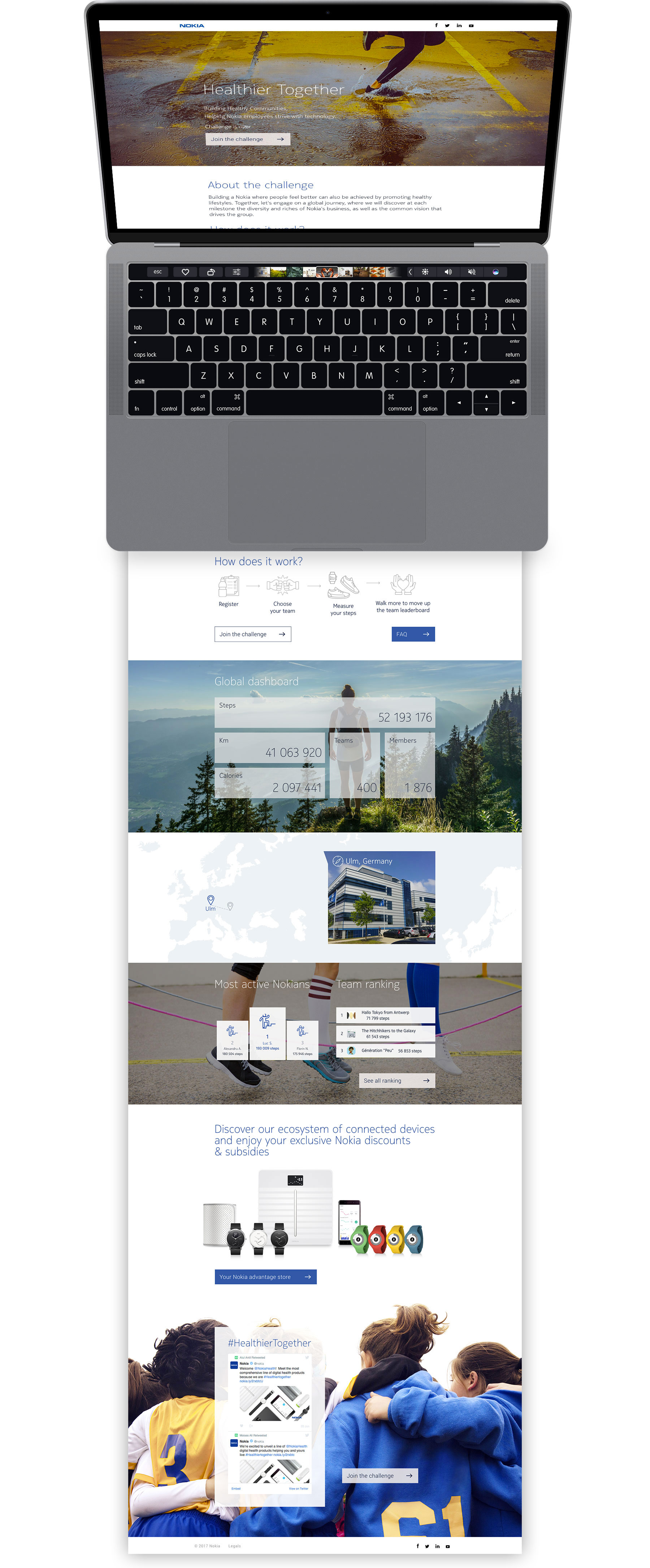 Nokia Healthier Together - webdesign et developpement web Sharing Agency