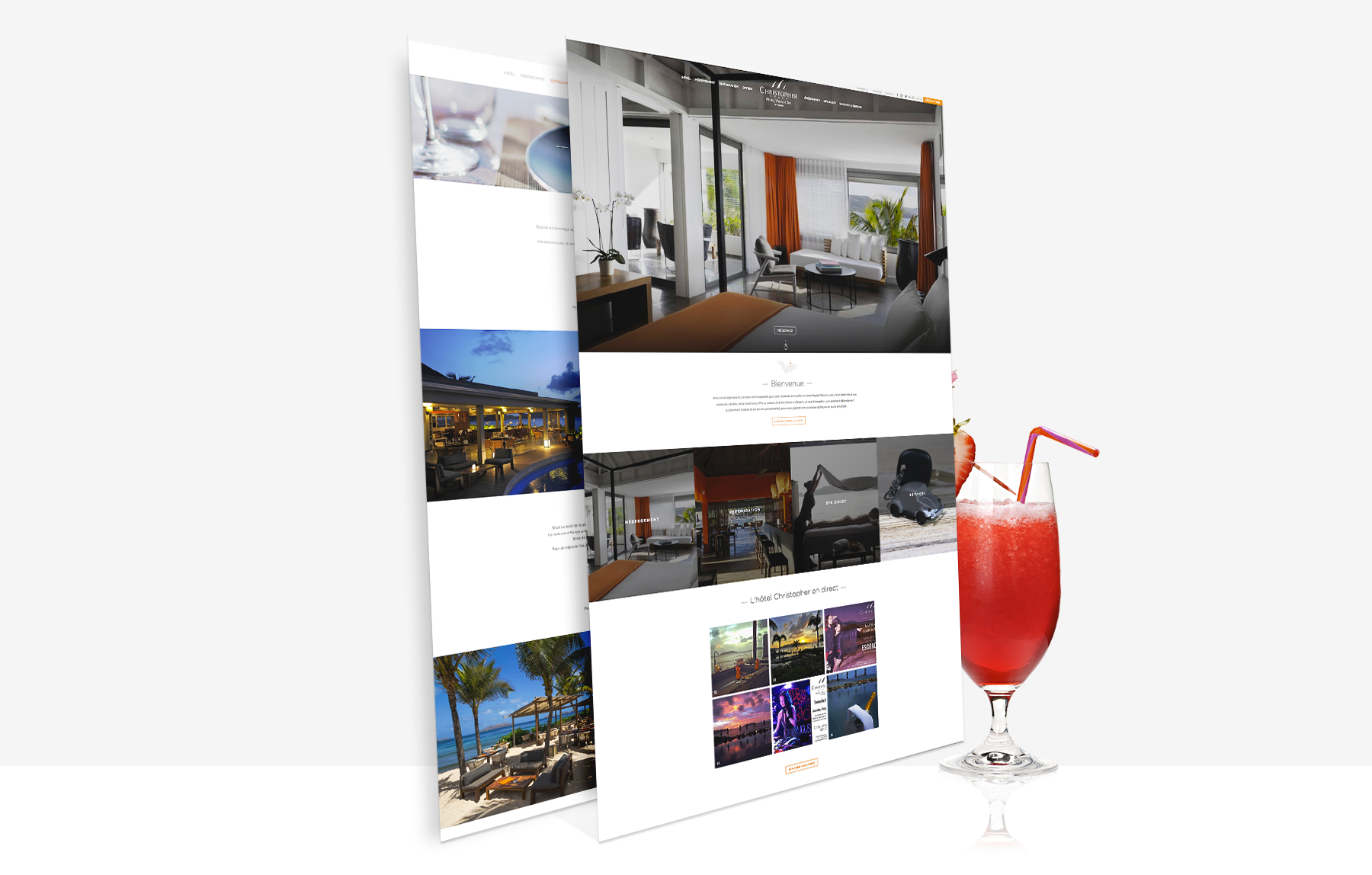 Hotel Christopher - refonte site web - Agence Sharing