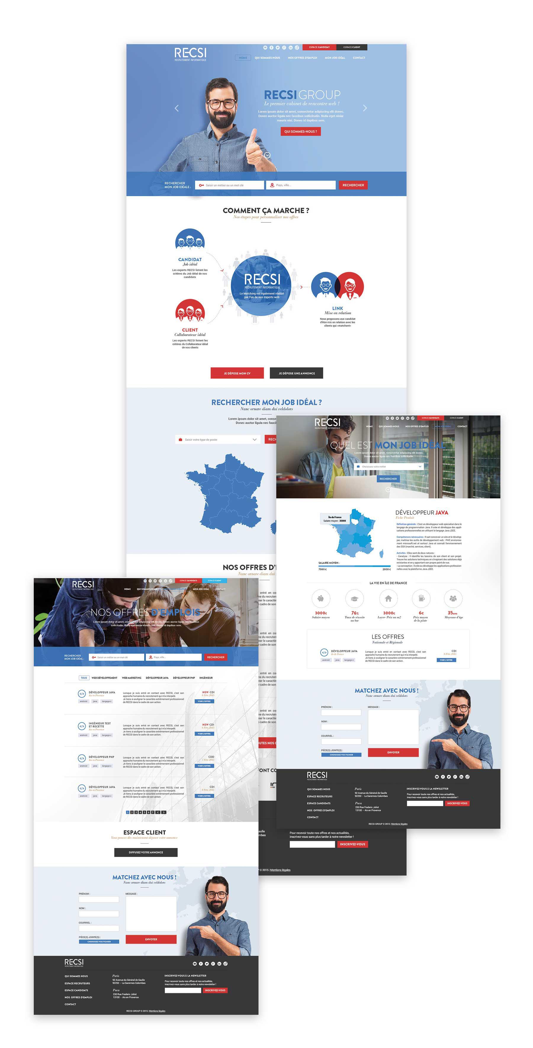 Recsi - Webdesign et développement web - Sharing Agency