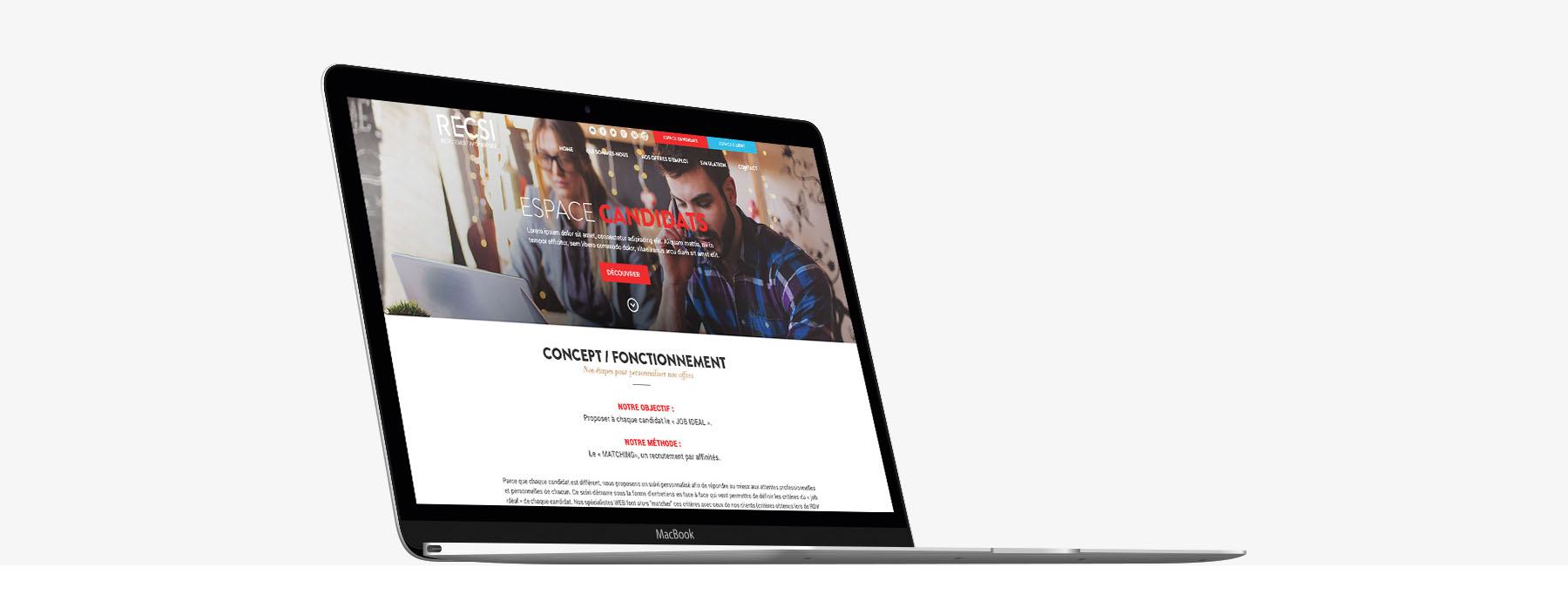 Recsi - Création site web sur mesure - Sharing Agency