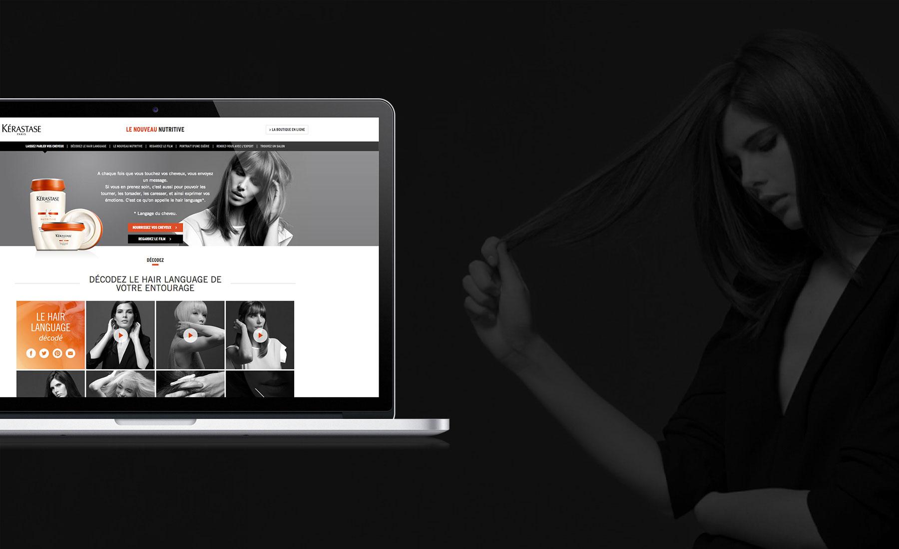 Kérastase - le langage des cheveux - Agence de communication Sharing