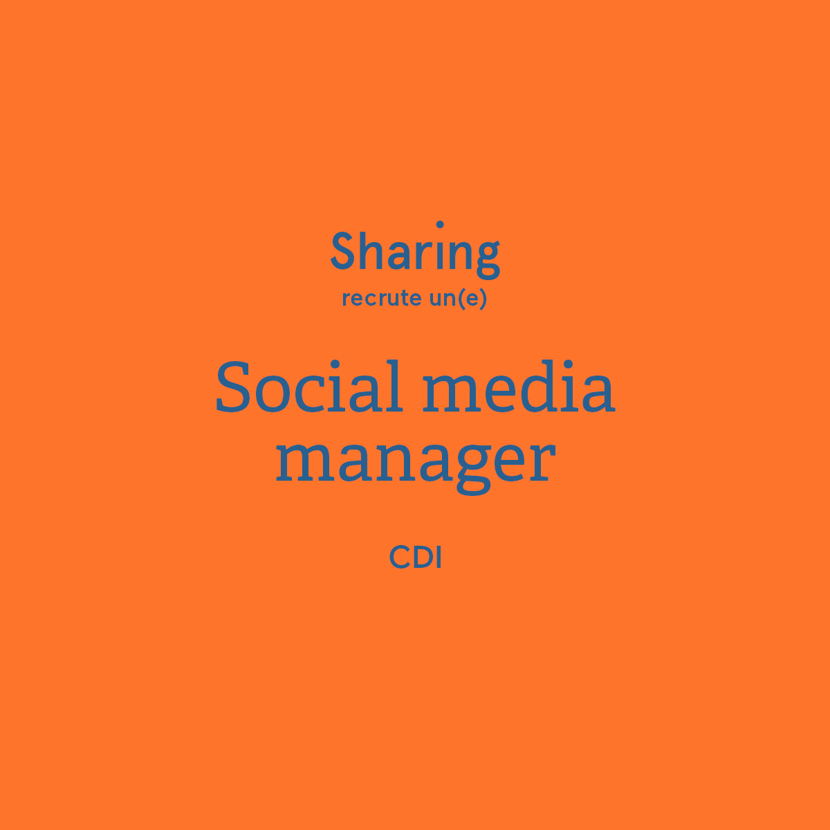 Sharing agency recrute un socia