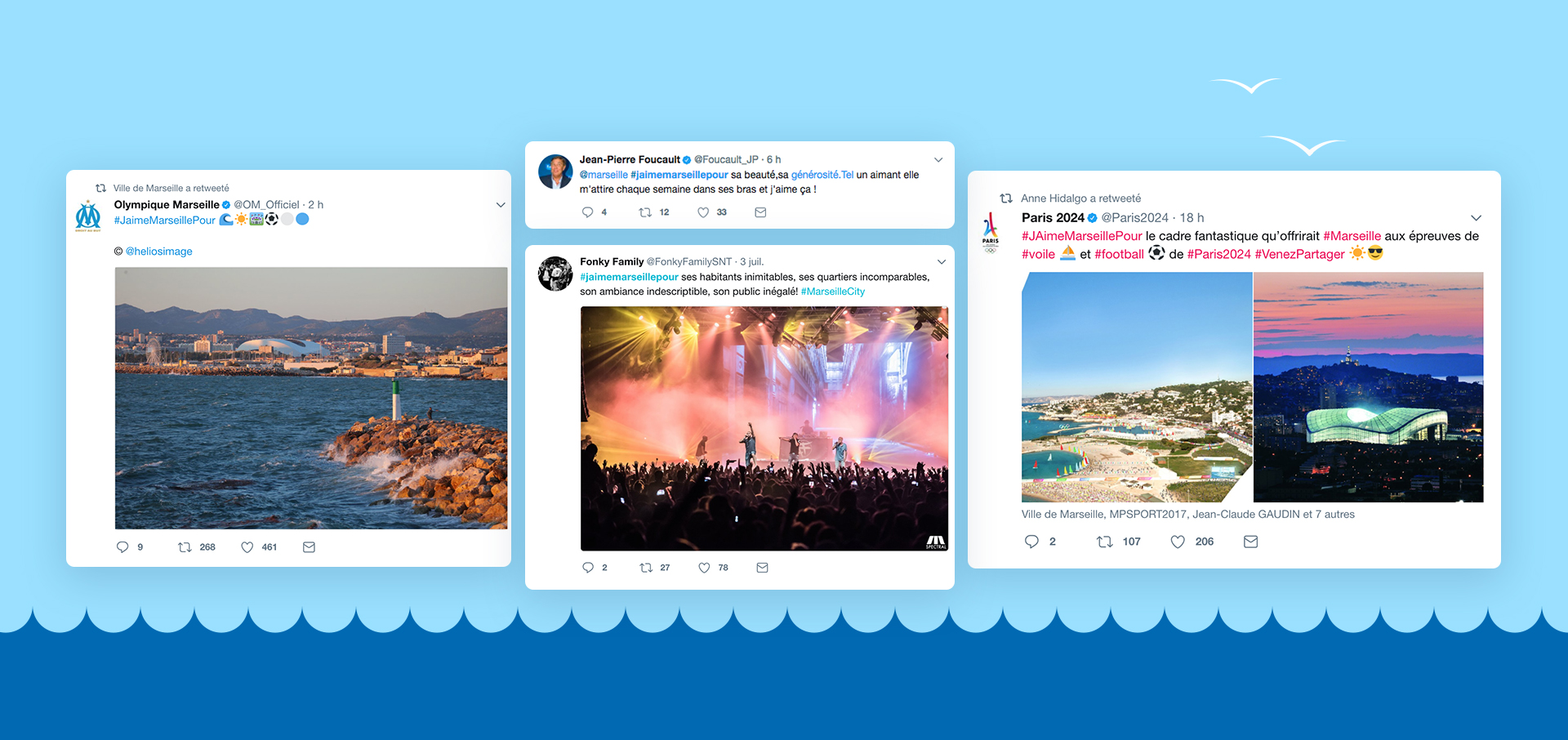 Agence de communication digitale Sharing - Community Management pour la ville de Marseille