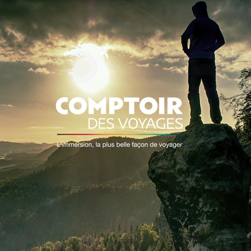 Agence Sharing - Logo et charte graphique Comptoir des Voyages