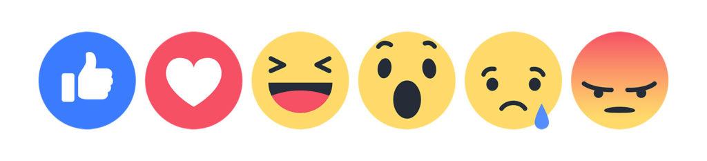 facebook reaction icons emoji sharing