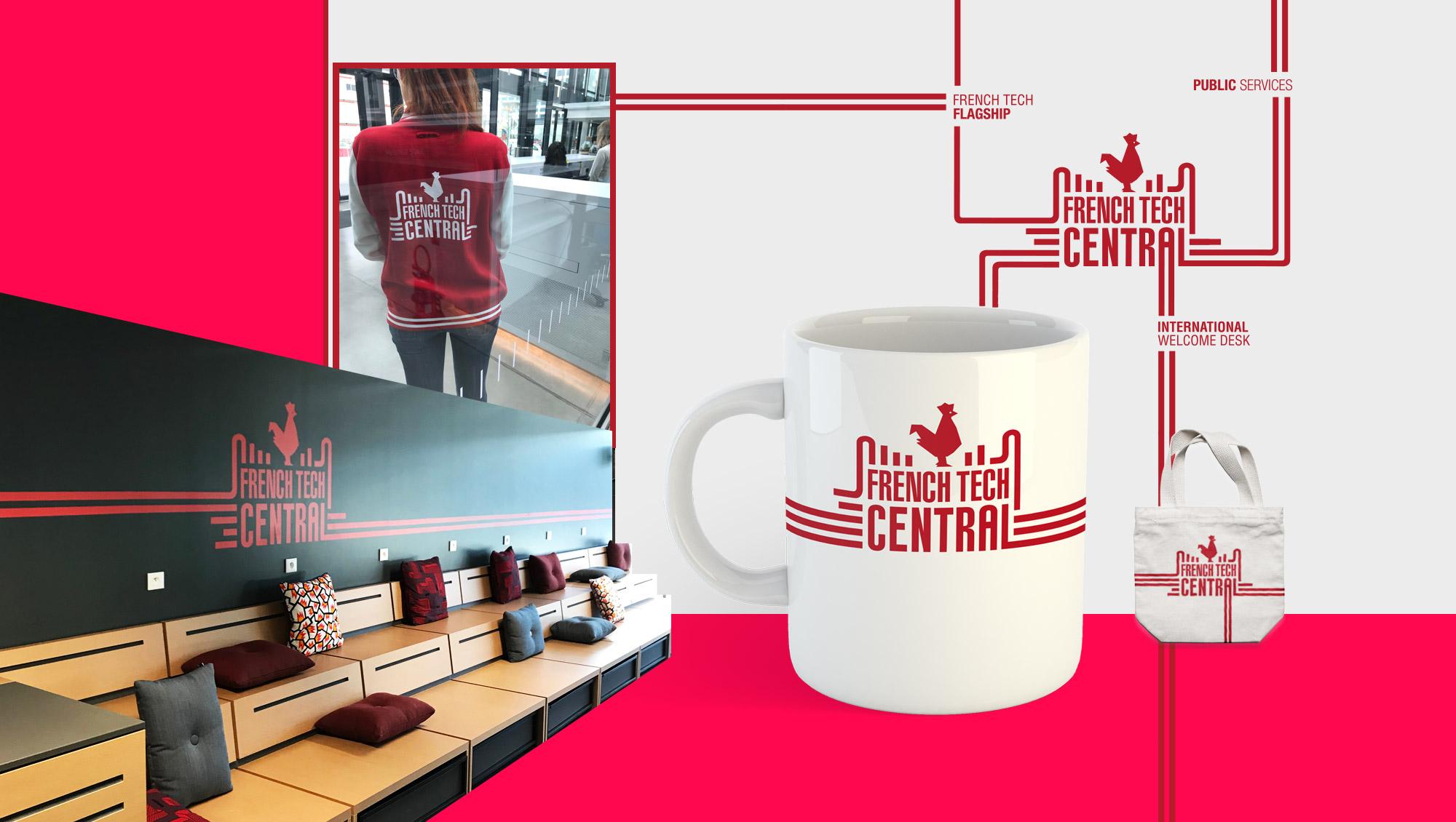 French Tech Central - identité visuelle par l'agence Sharing