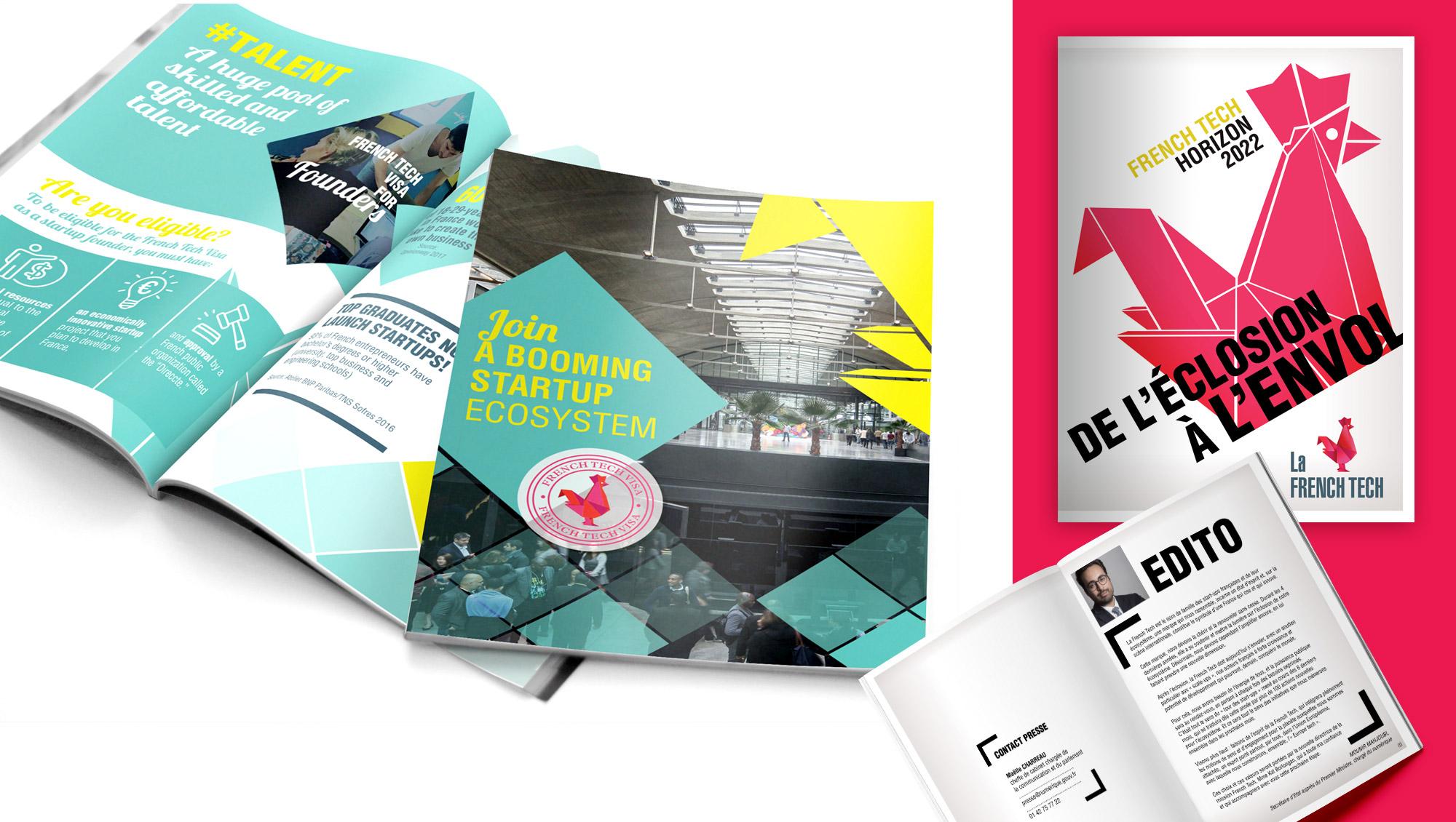 Branding de la marque La French Tech par l'agence de communication Sharing