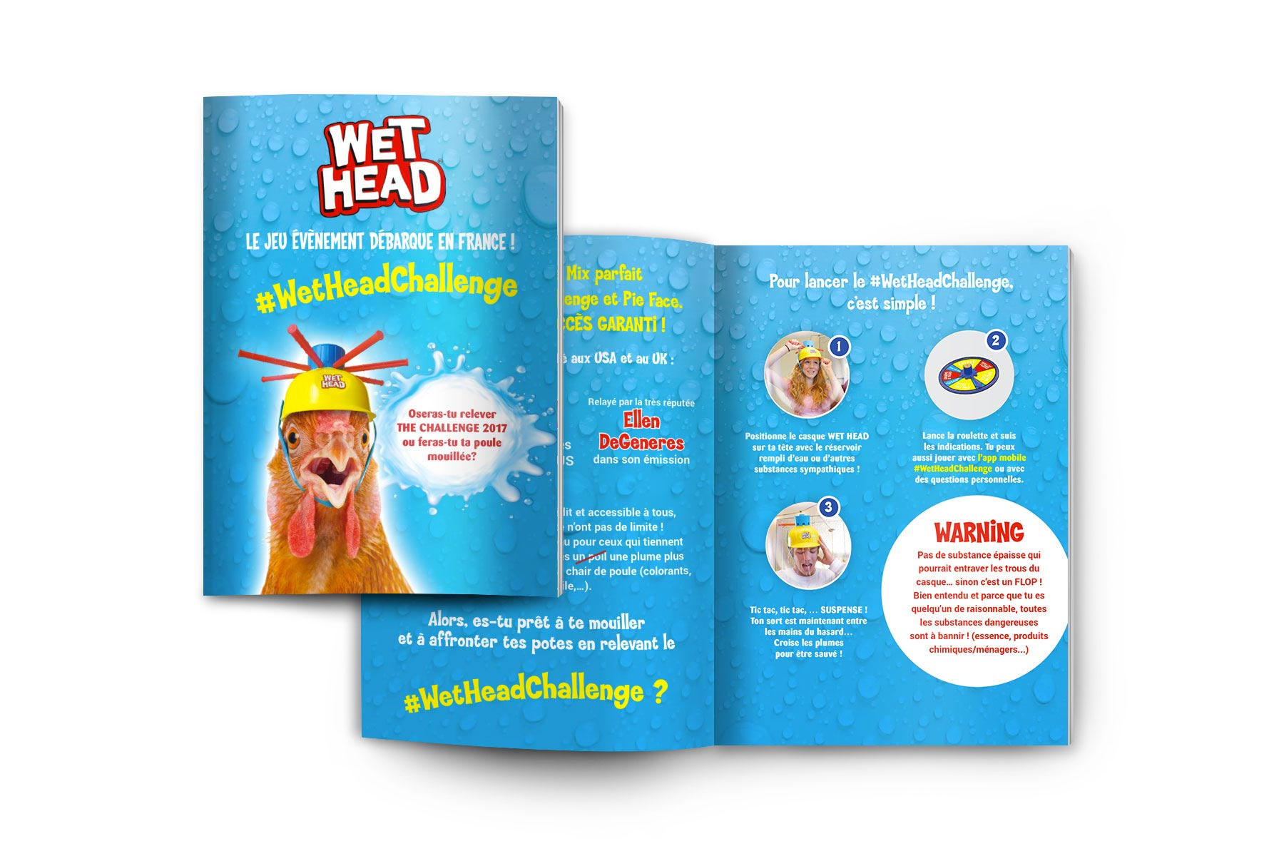 Wet Head Challenge - lancement du jeu en France par Sharing Agency