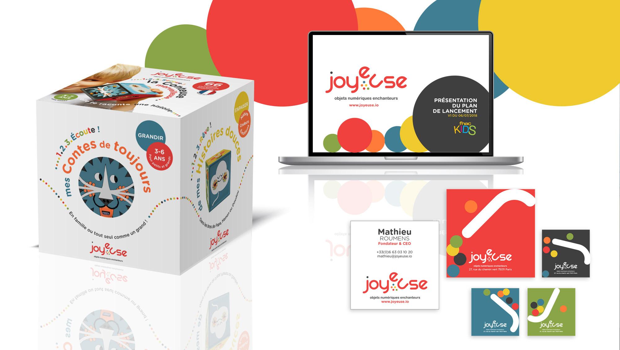 Sharing Agency - Logo et charte graphique pour Joyeuse - la première conteuse numérique