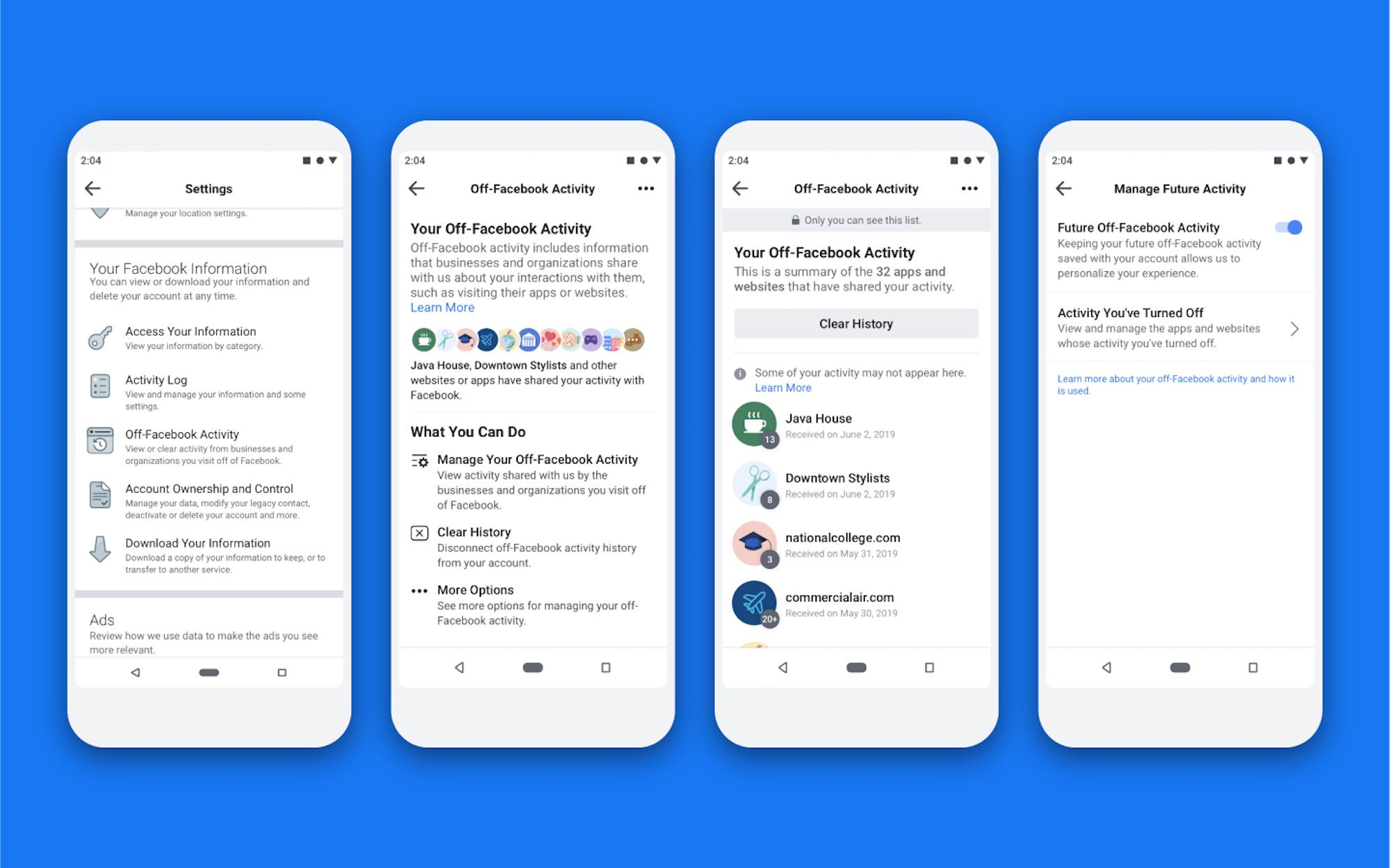 Facebook-Off activity