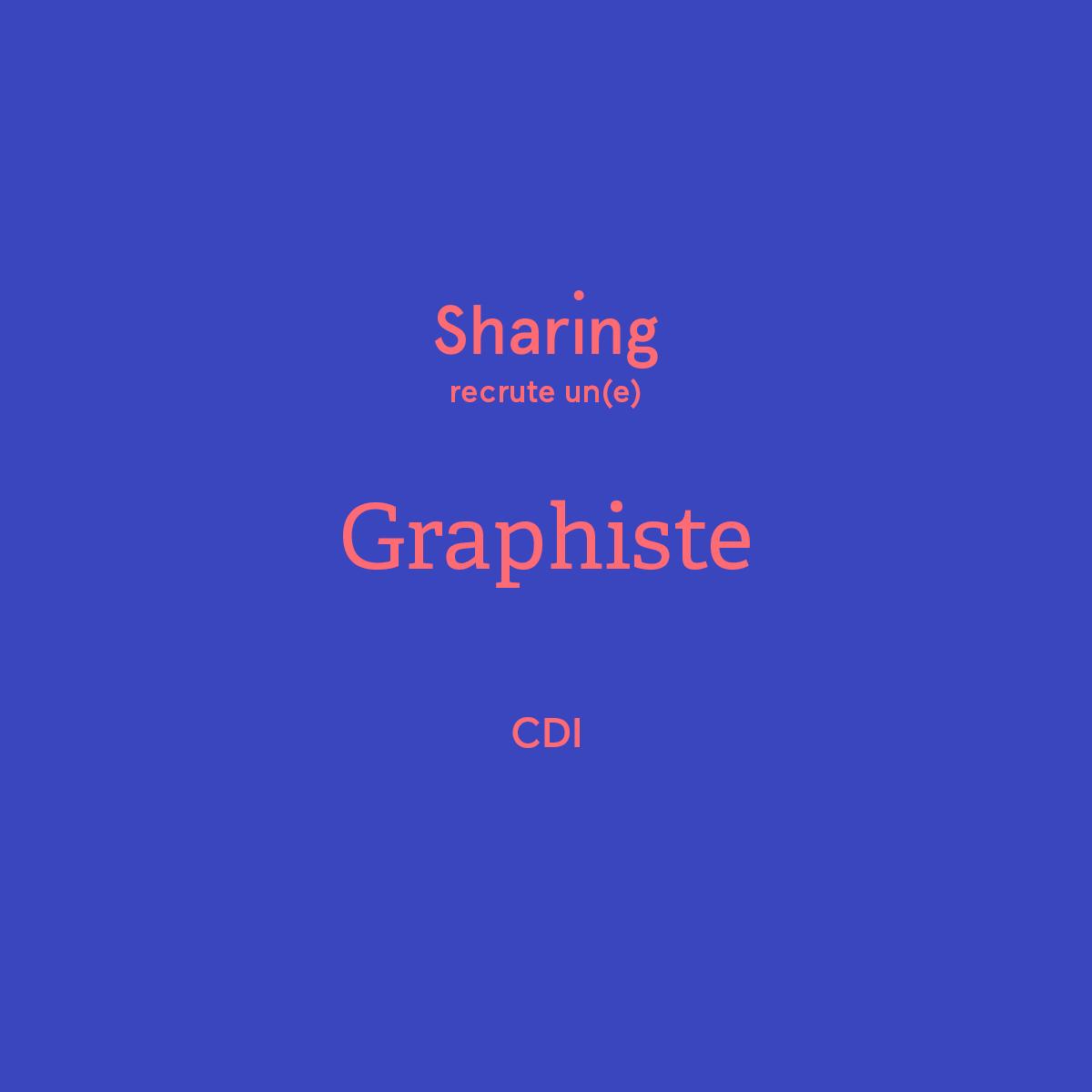 Annonce emploi graphiste réseaux sociaux sharing