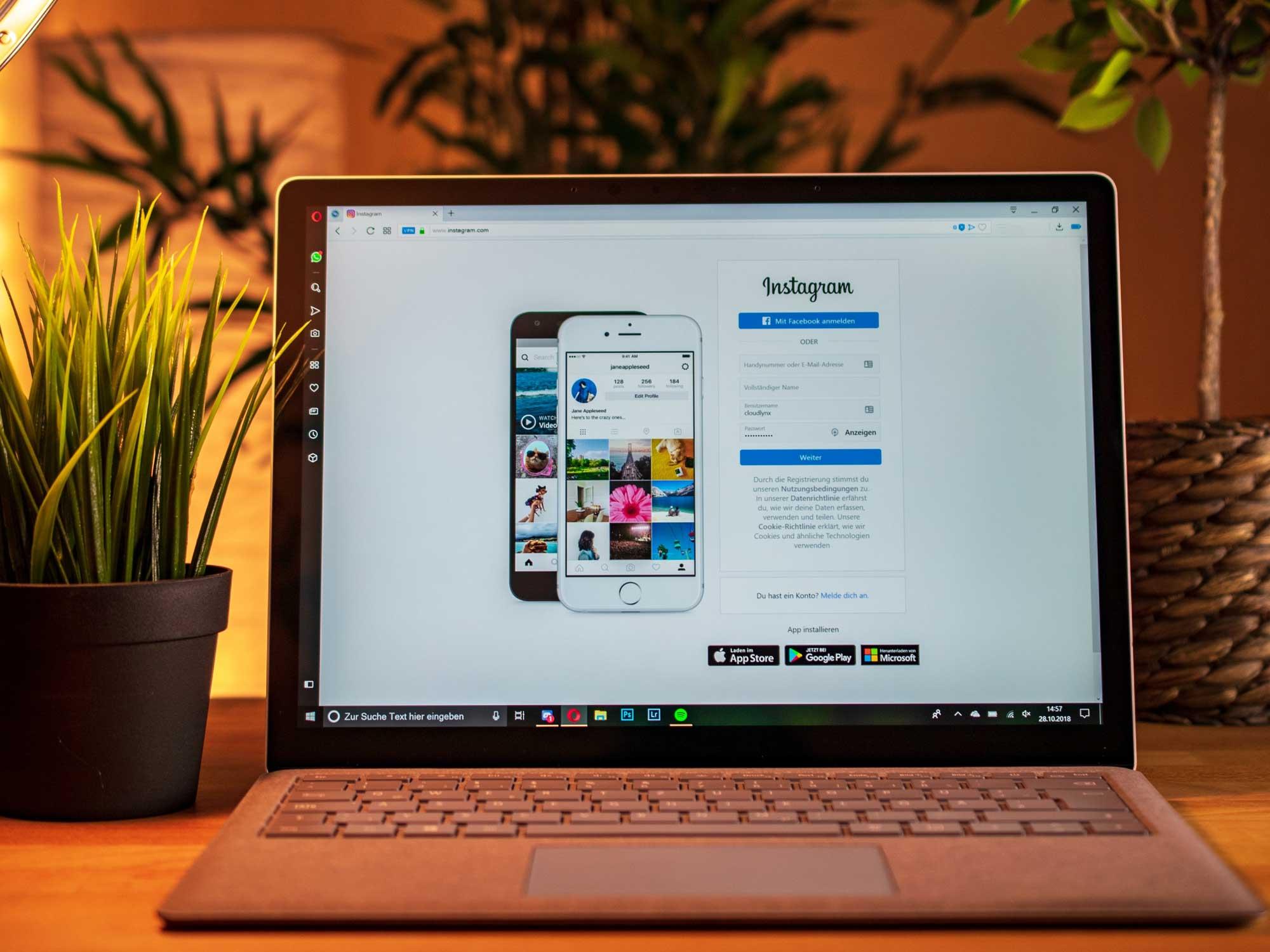 Utilisez les messages privés et lives Instagram sur ordinateur - Agence Sharing