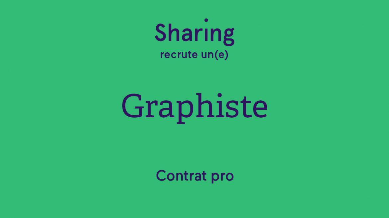 l'agence Sharing recrute un graphiste en contrat pro à Paris