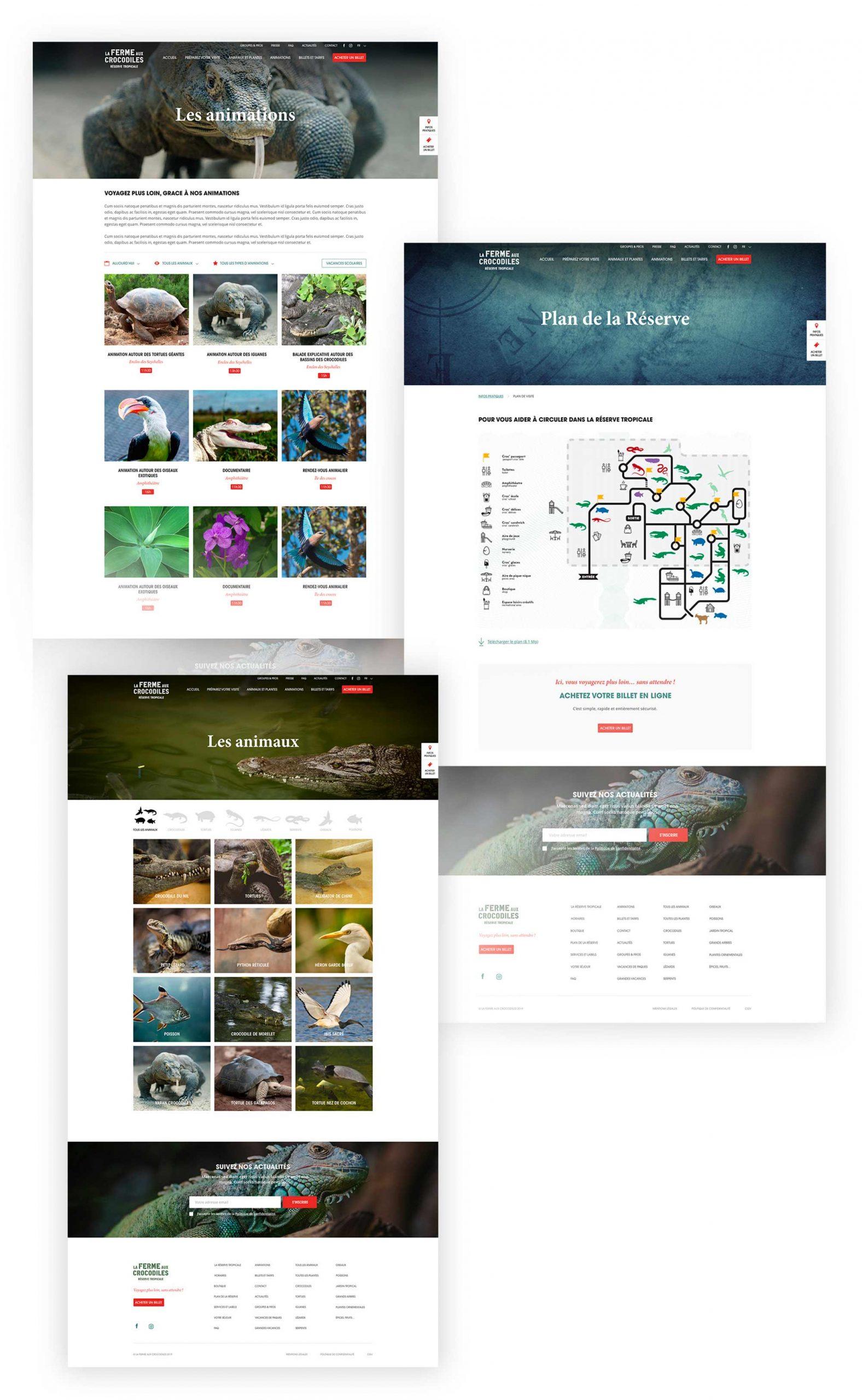la ferme aux crocodiles un site web réalisé par l'agence Sharing