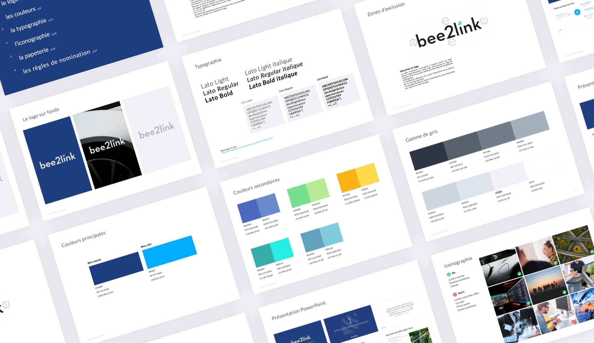 bee2link branding image de marque identité charte graphique sharing agency