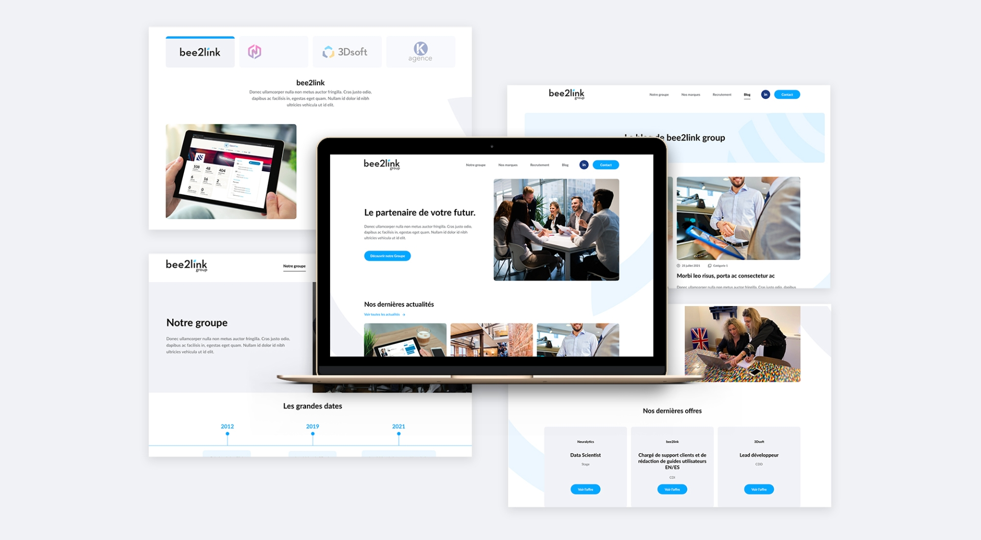 bee2link site we développement wordpress sharing agency